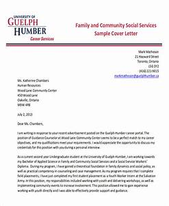 7 sample social worker cover letter free sample With cover letter for community service worker