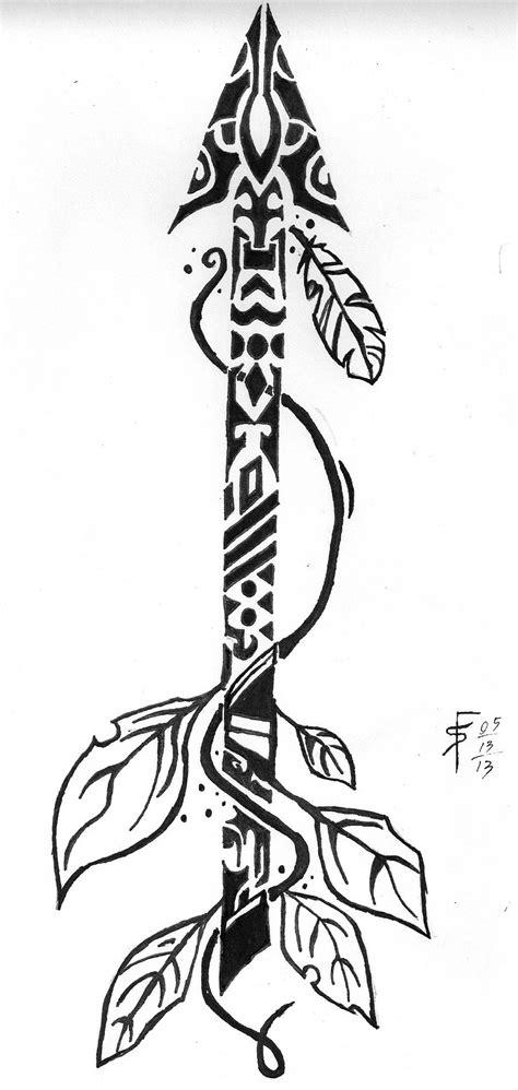 Pin by Rustic Fern Studio on Inspiration {PAINT}   Arrow tattoos, Arrow tattoo design, Tribal