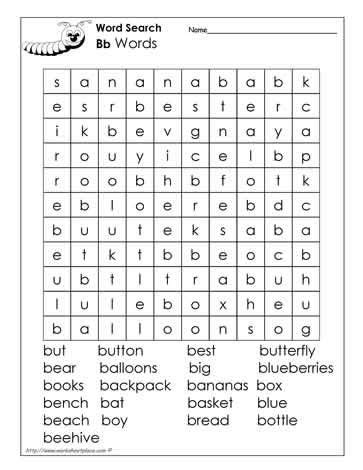 letter  word search  images alphabet words