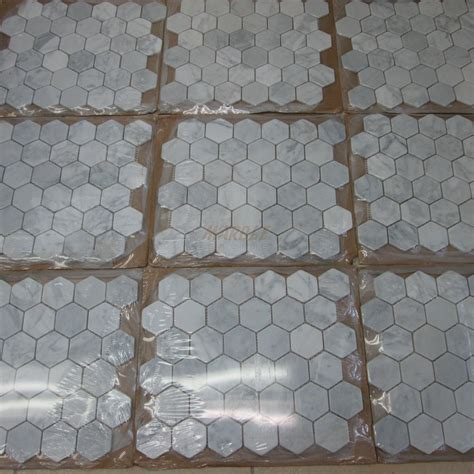 carrara marble tile italian white 2 inch hexagon