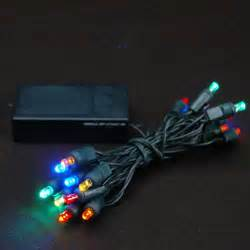 20 light battery operated multi colored on green wire novelty lights inc