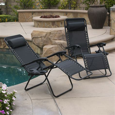 pc  gravity chairs lounge patio folding recliner
