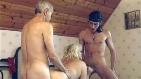 Real Granny Porn A Mmf Threesome Featuring A Chunky German