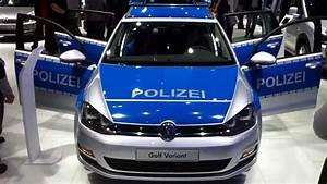 IAA 2013 German Police Car VW Golf 7 Variant - YouTube