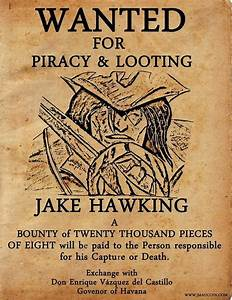 jmaucoin jakehawkingwantedposterjpg 742x960 With wanted pirate poster template