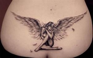 Tatouage Bas Dos Femme : tatouage gothique dos mod les et exemples ~ Nature-et-papiers.com Idées de Décoration
