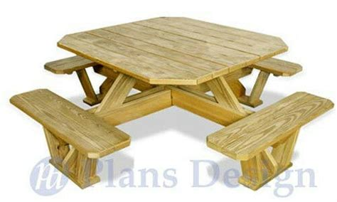 traditional square picnic table benches woodworking plans odf ebay