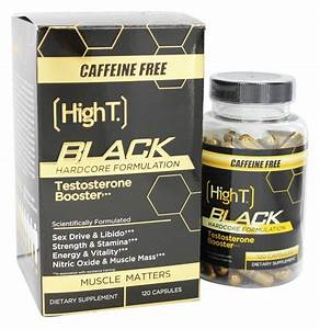 Buy High T - Black Testosterone Booster Hardcore Formulation Caffeine Free