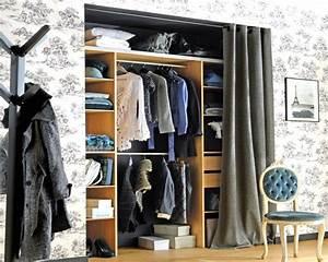Dressing Tout En Un Avec Rideau :  ~ Dailycaller-alerts.com Idées de Décoration