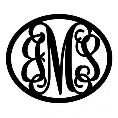 letter bordered metal script monogram