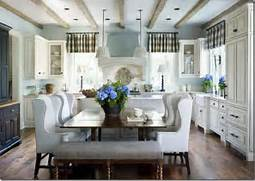 Cream Kitchen Banquette Attached To Island With Seating Brynn Duggan Kitchen Island Design Ideas With Seating Islands Design Ideas Small White Kitchen With Angled Island On Kitchen Designs With Island Delorme Designs FAVOURITE KITCHENS OF ALL TIME