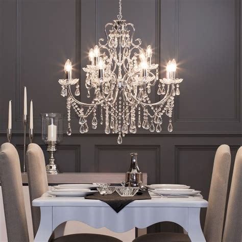 Glass Chandeliers For Dining Room by Madonna Chandelier 12 Light Dual Mount Chrome Lighting