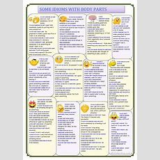 17 Free Esl Body Idioms Worksheets