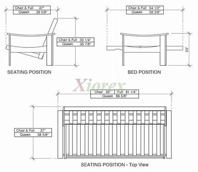Futon Sofa Dimensions Xiorex Fuji Night Rosewood
