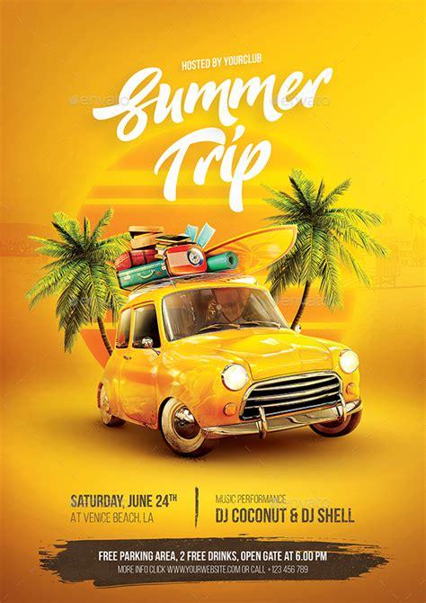 summer trip flyer  bornx graphicriver