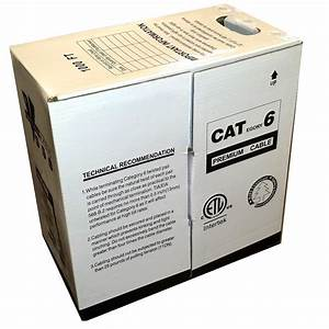 Cat6 Ethernet Cable With Copper Conductor And Ul Rating