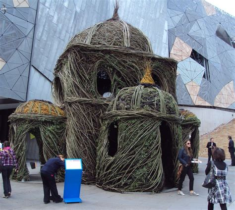 a cathedral built from willow tree saplings by patrick