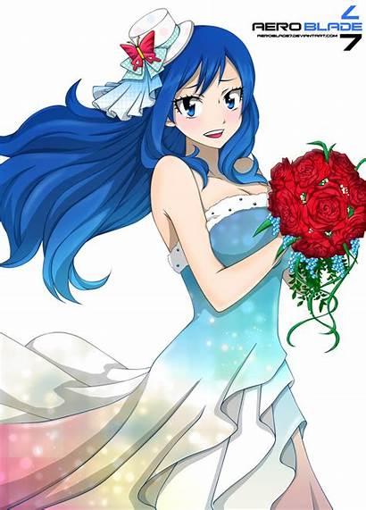 Juvia Prom Coloring Fairy Fairytail Tail Deviantart