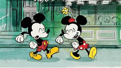 Mickey Mouse Minnie Gifs Adorable Dancing Disney