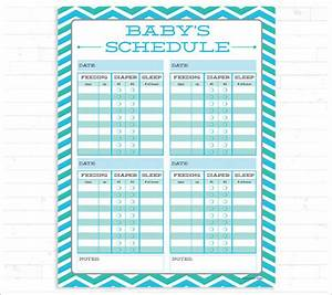 Baby schedule template 10 free sample example format for Baby routine template