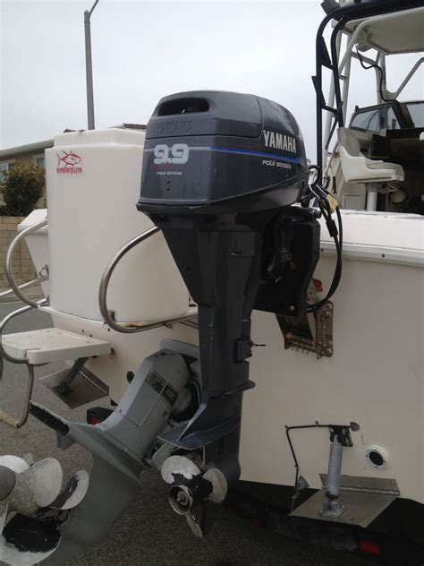 Used Outboard Kicker Motors For Sale by Yamaha 4 Stroke 9 9hp High Thrust Outboard Kicker Motor