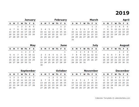 yearly calendar blank minimal design  printable templates