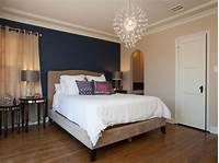 fine bedroom accent wall Appealing Navy Blue And Cream Accents Wall Color ...