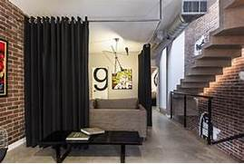 Interior Partition Ideas Interior Partitions Room Zoning Design Ideas Black Curtain On The