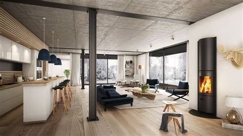 Spacious Modern Living Room Interiors by 25 Living Rooms