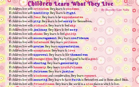 children learn what they live pregnancy in singapore 772 | children learn