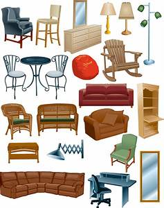 furniture clipart furnitureclipart collection of With home furniture items name