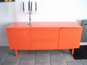 meuble de salon orange laque luckyfind With meuble orange