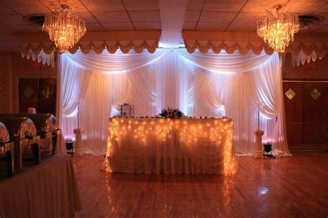 Wedding Reception Decor Ivory Satin Backdrop