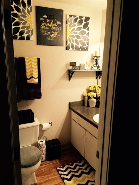 Theme Bathroom Ideas by Yellow Grey And Black Quot You Are My Quot Theme