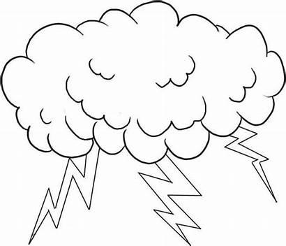 Lightning Coloring Bolt Cloud Lighting Pages Storm