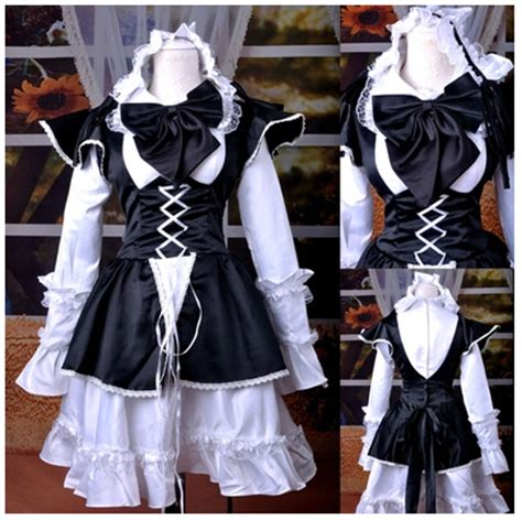 Helloween costumes for women adult lolita dress medieval renaissance dress servant maid cosplay ...