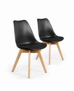 Chaise Scandinave Noir : iceberg chaise scandinave noir ~ Teatrodelosmanantiales.com Idées de Décoration