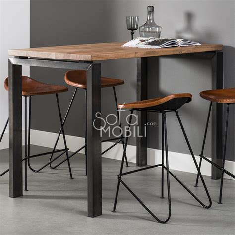 meuble cuisine moderne table de bar style industriel sofamobili
