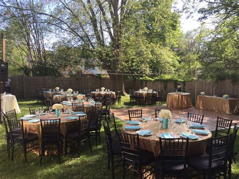 backyard wedding  outdoor decor backyard