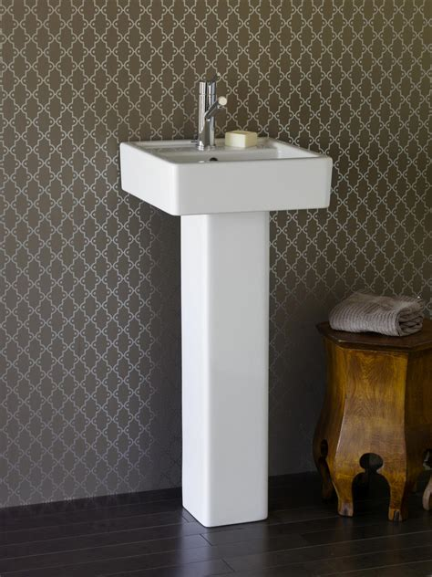 small pedestal sinks stunning small bathroom home decoration presenting