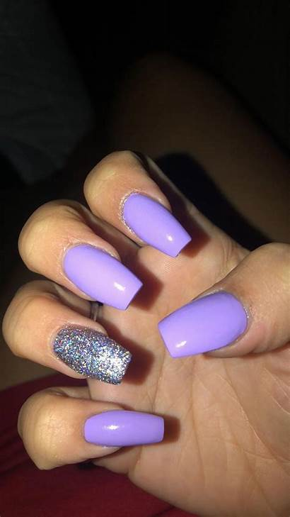Nails Acrylic Summer Purple Lavender Square Nail