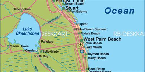karte von fort lauderdale region region  vereinigte