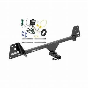 Trailer Hitch Tow Receiver W   Wiring Harness Kit For 16