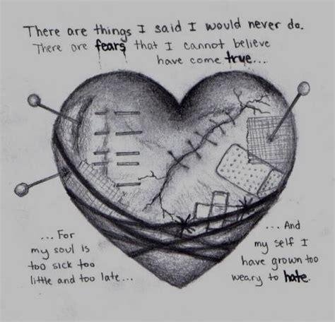 sad heartbroken deviantart   sad heart drawing