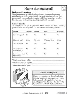 3rd grade 4th grade science worksheets solid liquid or