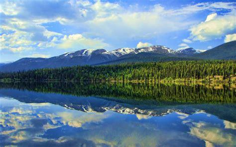 วอลเปเปอร์ : ต้นไม้, แนวนอน, ทะเลสาบ, การสะท้อน, ท้องฟ้า ...
