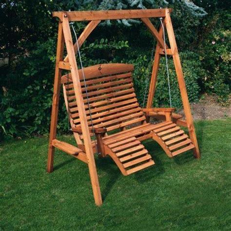 afk wooden garden luxury comfort swing seat beech stained