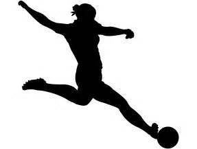 Female Soccer Player Silhouette | Free vector silhouettes