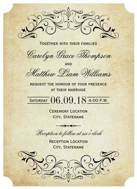 wedding invite template download 31 elegant wedding invitation templates free sample