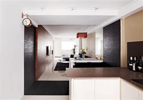 One Wall Kitchen Layout Ideas - 10 stylish open concept kitchens with peninsula counters in hdb flats home decor singapore